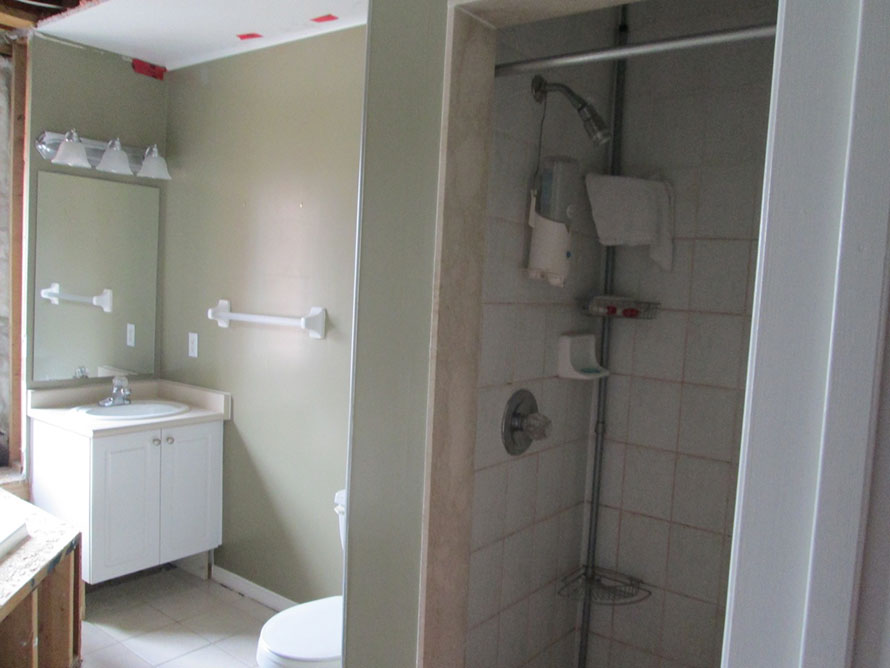 Jon aldom homes bathroom reno for How to reno a bathroom